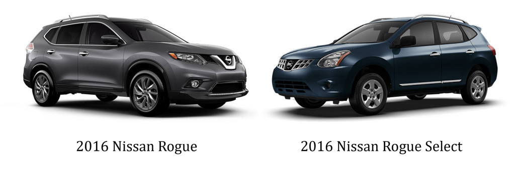 2016 Nissan Rogue vs 2016 Rogue Select Fort Walton Beach