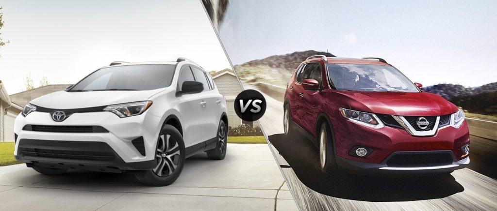 2016 Nissan Rogue vs Toyota RAV4