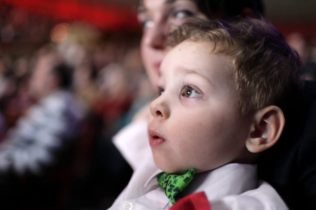 Astonished child at performance