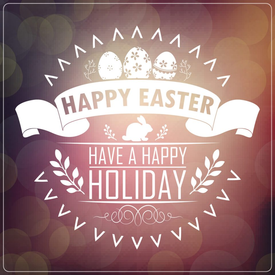 """Illustration of """"Happy Easter"""""""